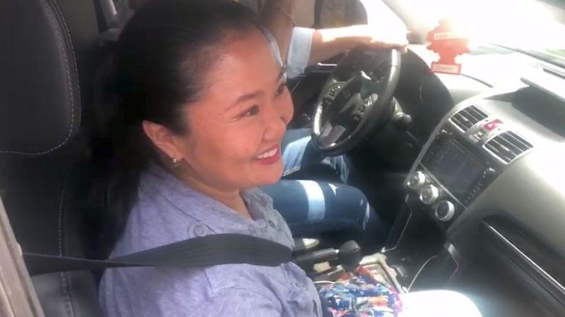 Keiko Fujimori pasó la mañana junto con su familia y en la tarde salió rumbo a San Borja, para visitar a su madre.
