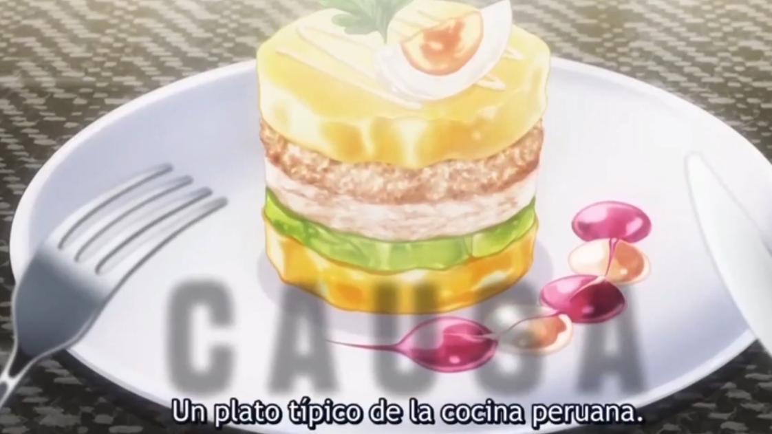 La entrada peruana se impuso a la comida italiana en el anime.