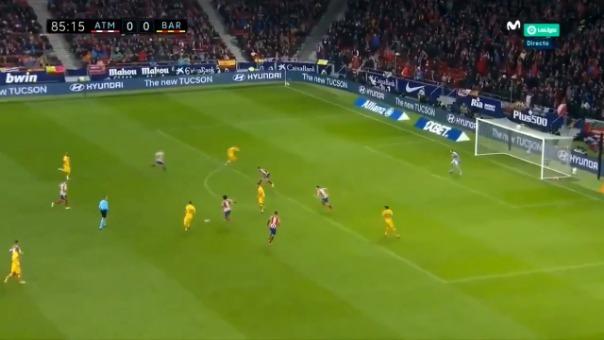 Barcelona venció 1-0 al Atlético de Madrid por la fecha  15 de la Liga Santander