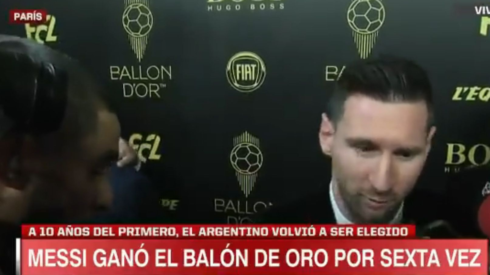 Lionel Messi ganó su sexto Balón de Oro.