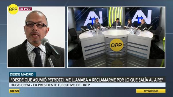 Hugo Coya fue destituido como presidente del IRTP.