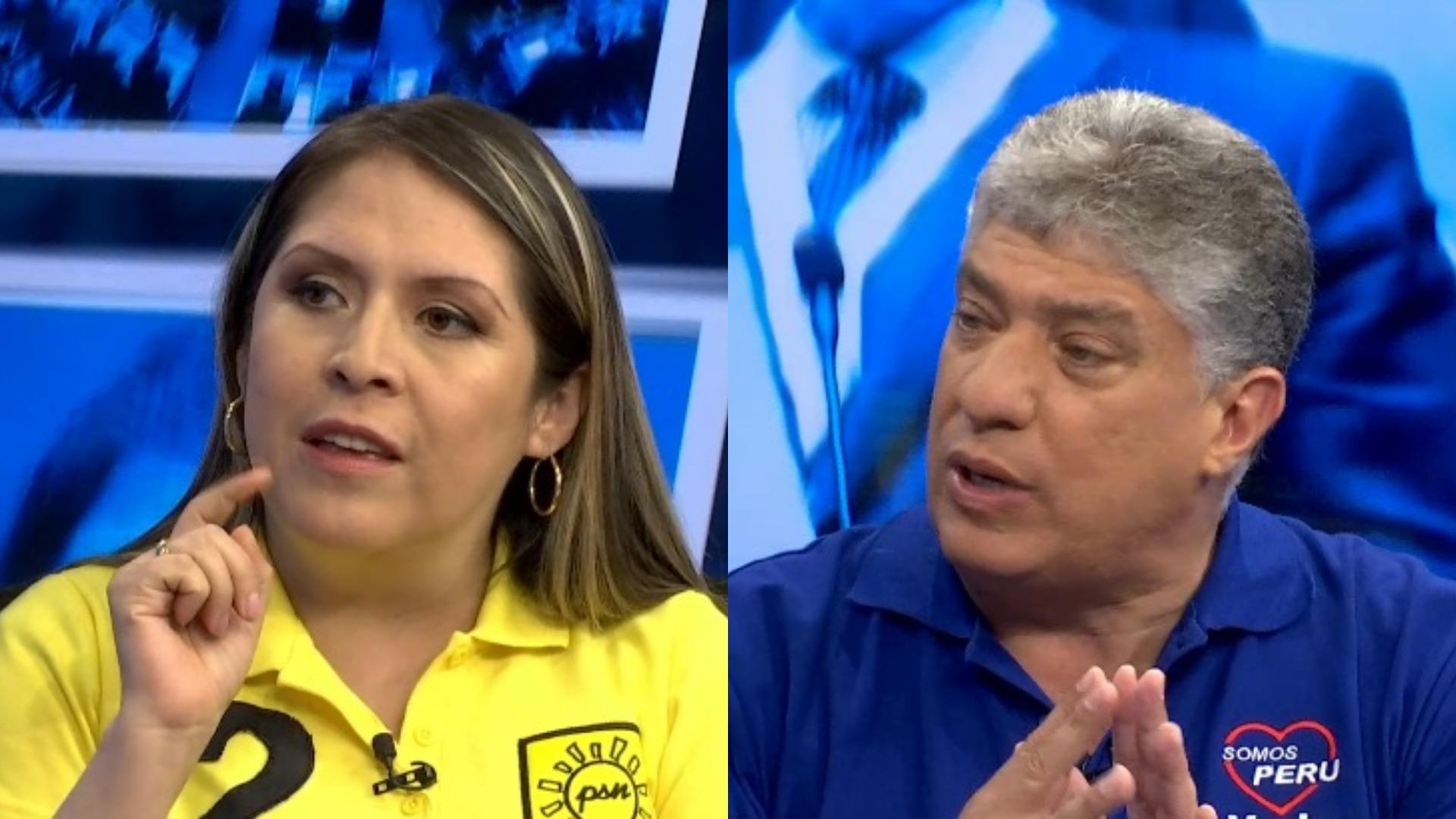 Los candidatos Yeni Vilcatoma (Solidaridad Nacional) y Manuel Masías (Somos Perú) plantearon sus propuestas en el programa