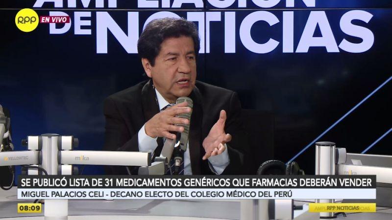 El doctor Miguel Palacios Celi estuvo esta mañana en Ampliación de Noticias.