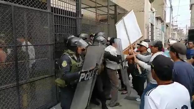 Protesta en Juzgado Civil de Chiclayo