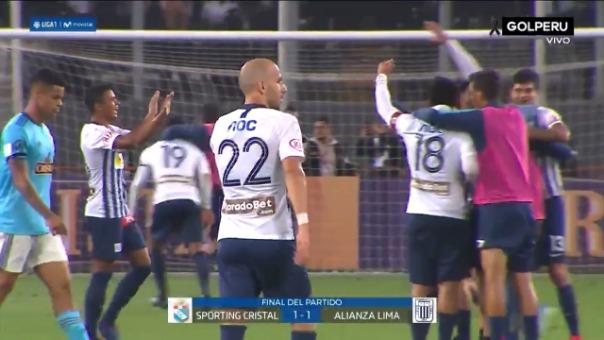 Así fue la celebración de Alianza Lima tras clasificar a la final de la Liga 1.