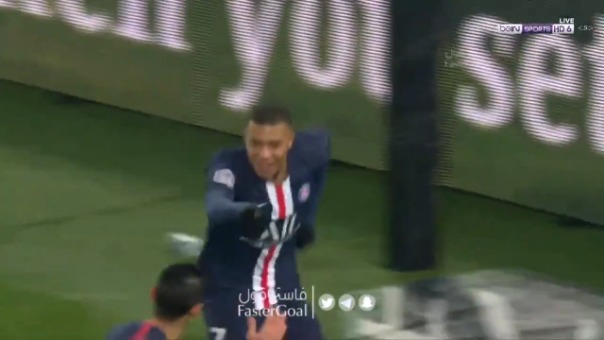 Así fue el golazo de Kylian Mbappé.
