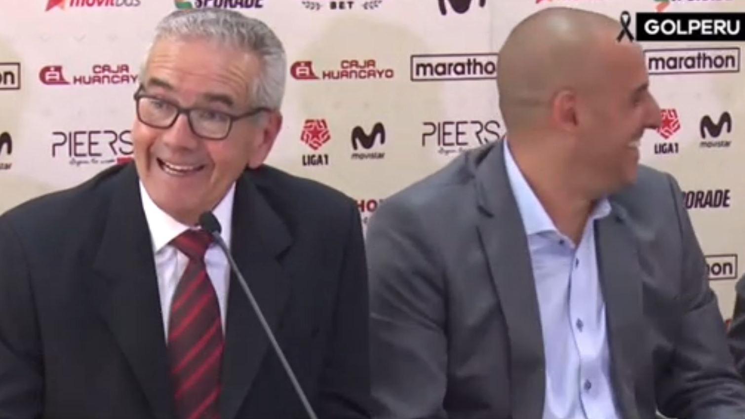 Conferencia de prensa de Gregorio Pérez.