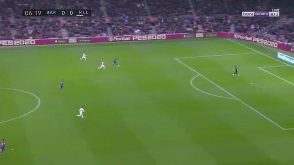 Antoine Griezmann abrió el marcador con un gran gol de 'sombrero' en el Barcelona vs. Mallorca