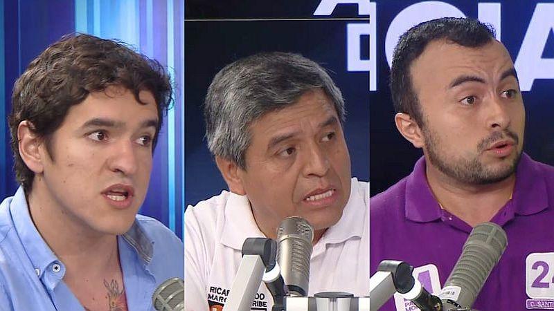 Luis Bringas Tacchino (APP), Ricardo Pando (Fuerza Popular) y Carlos Santibañez (Partido Morado) estuvieron esta mañana en Ampliación de Noticias.