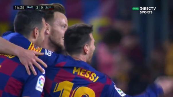 Así fue el primer gol anotado por Lionel Messi ante Mallorca.