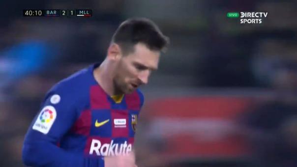 Así fue el segundo gol de Lionel Messi contra Mallorca.