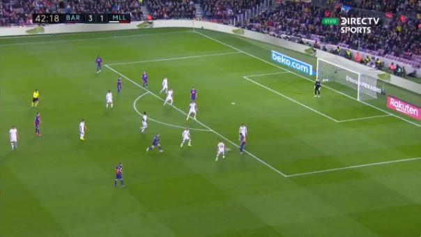 Así fue el golazo de Luis Suárez.