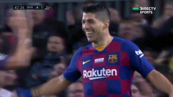 Así fue el gol de Luis Suárez.