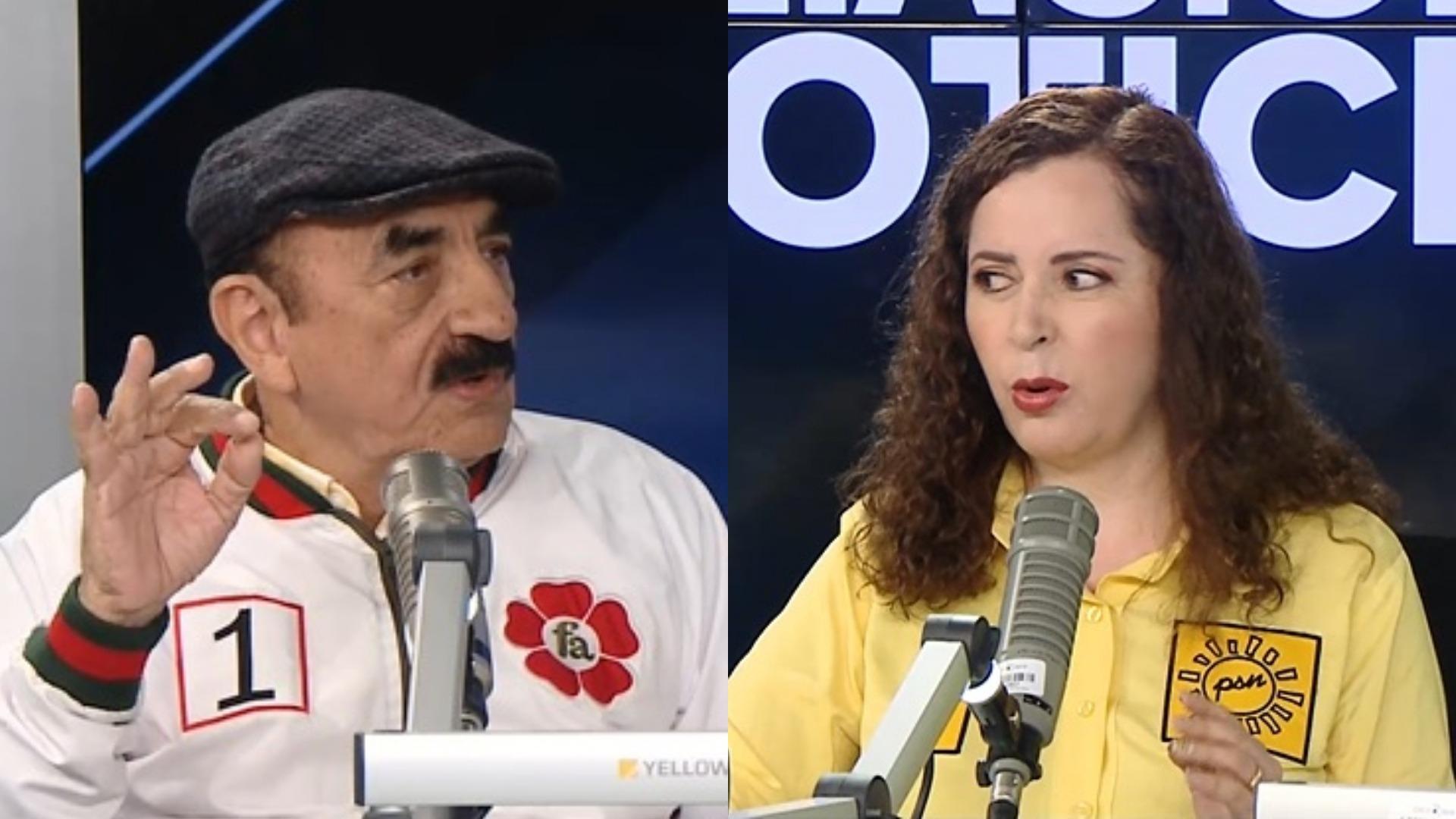 Los candidatos Enrique Fernández (Frente Amplio) y Rosa Bartra (Solidaridad Nacional) plantearon sus propuestas en  Ampliación de Noticias de Domingo.