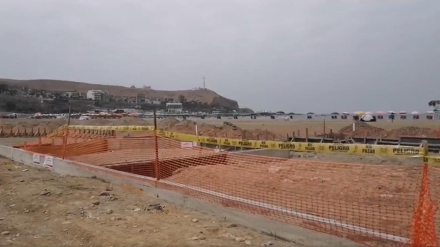 Municipalidad de Chorrillos asegura que repara estructuras dañadas en playa Agua Dulce de Chorrillos