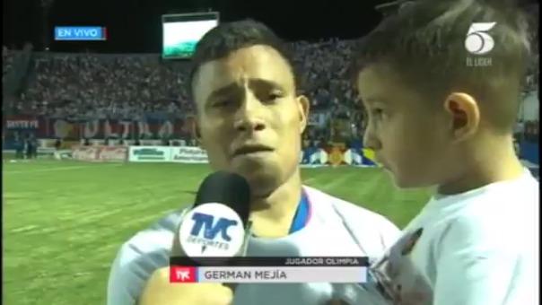 Germán Mejía habló después de coronarse campeón de Honduras.