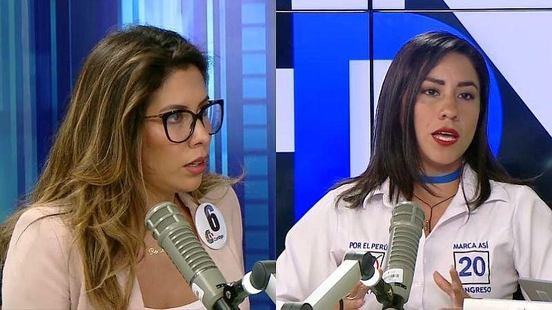 Rosselli Amuruz y Lesly Shica Seguil debatieron sobre educación sexual en los colegios.