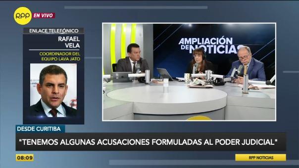 El fiscal Rafael Vela se encuentra en Brasil para tomar las declaraciones de exdirectivos de Odebrecht.