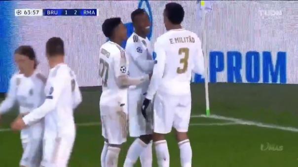 Así fue el primer gol de Vinicius en la Champions League.