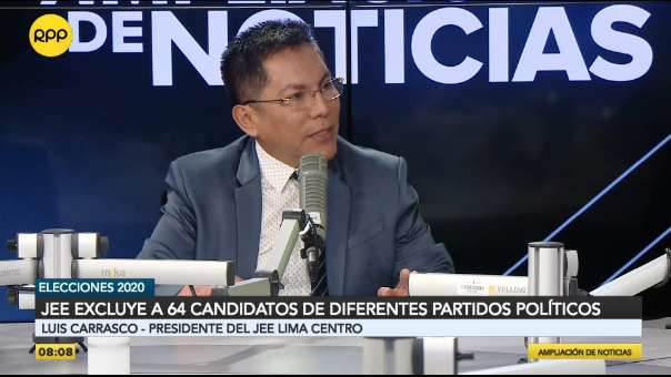 Luis Carrasco, presidente del JEE Lima Centro.