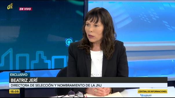 Beatriz Jerí, directora de Selección y Nombramiento de la JNJ.