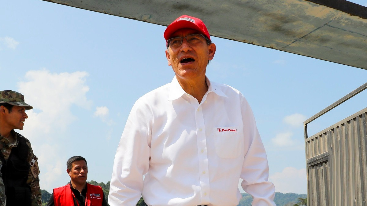 El presidente Martín Vizcarra participó de una actividad en Lambayeque.