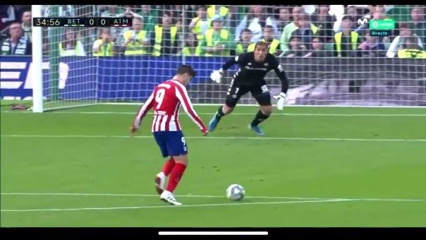 Así fue la ocasión de gol errada por Álvaro Morata.