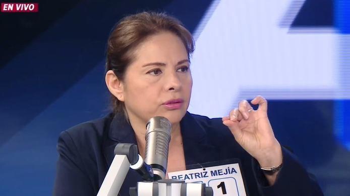 Beatriz Mejía, candidata de Avanza País