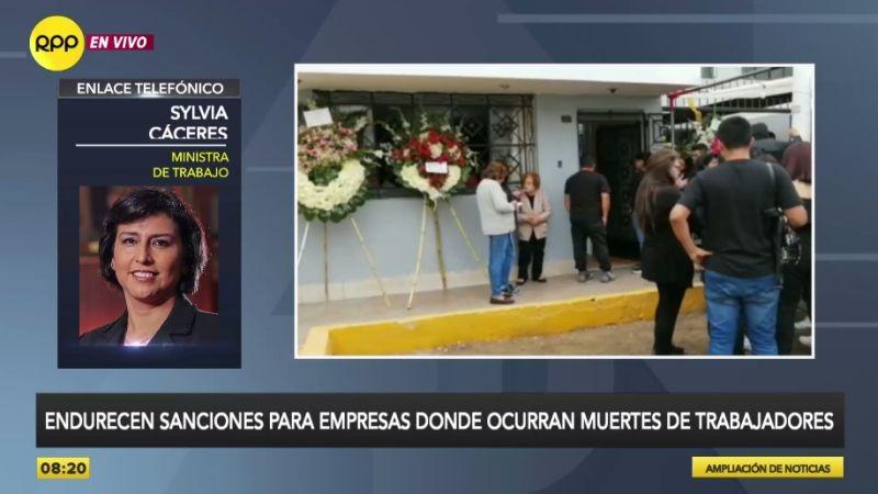 La ministra de Trabajo, Sylvia Cáceres, estuvo esta mañana en Ampliación de Noticias.
