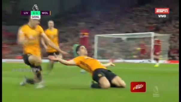 el polémico gol anulado a Wolverhampton sobre Liverpool por la Premier League