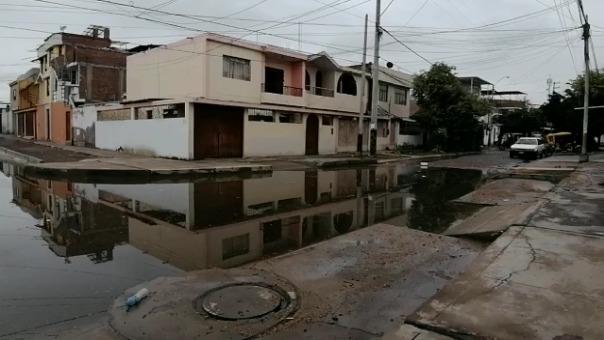 Situación de la zona El Chical tras intensa lluvia