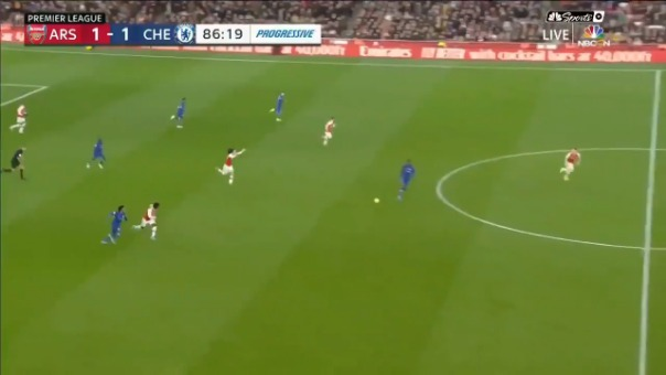 el espectacular contragolpe de Chelsea que terminó en un golazo sobre Arsenal por la Premier League