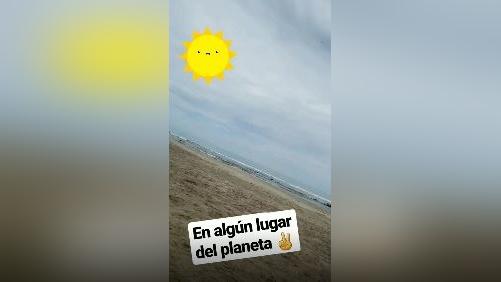 Como lo muestran sus 'stories' de Instagram, Karla Tarazona se encontraba de vacaciones en Tumbes cuando ocurrió el intento de robo a su departamento.
