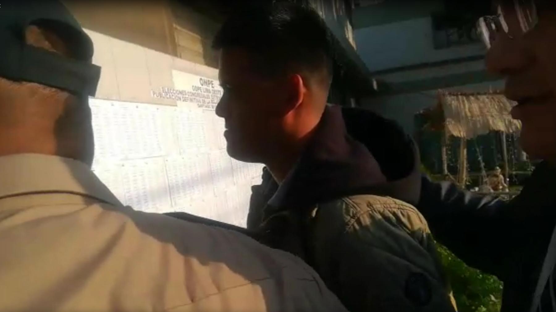 El alférez José Anotnio Rodríguez Manrique se entregó en una comisaría en Surco.