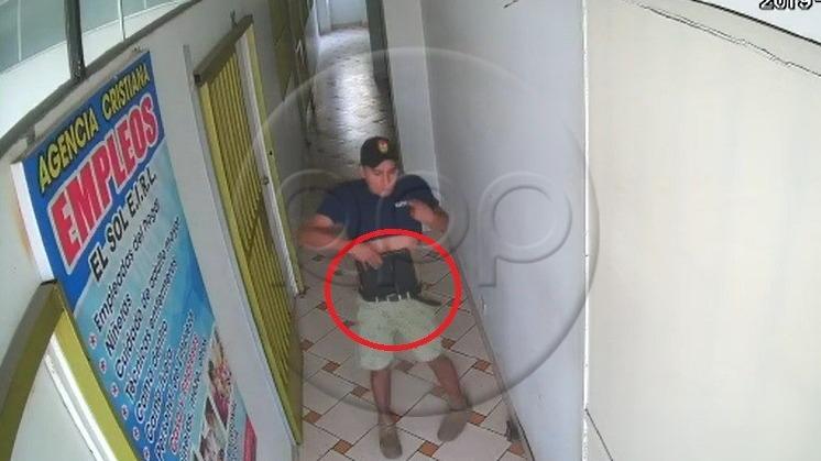 Las cámaras de seguridad captaron el robo en la agencia de empleos de Ate