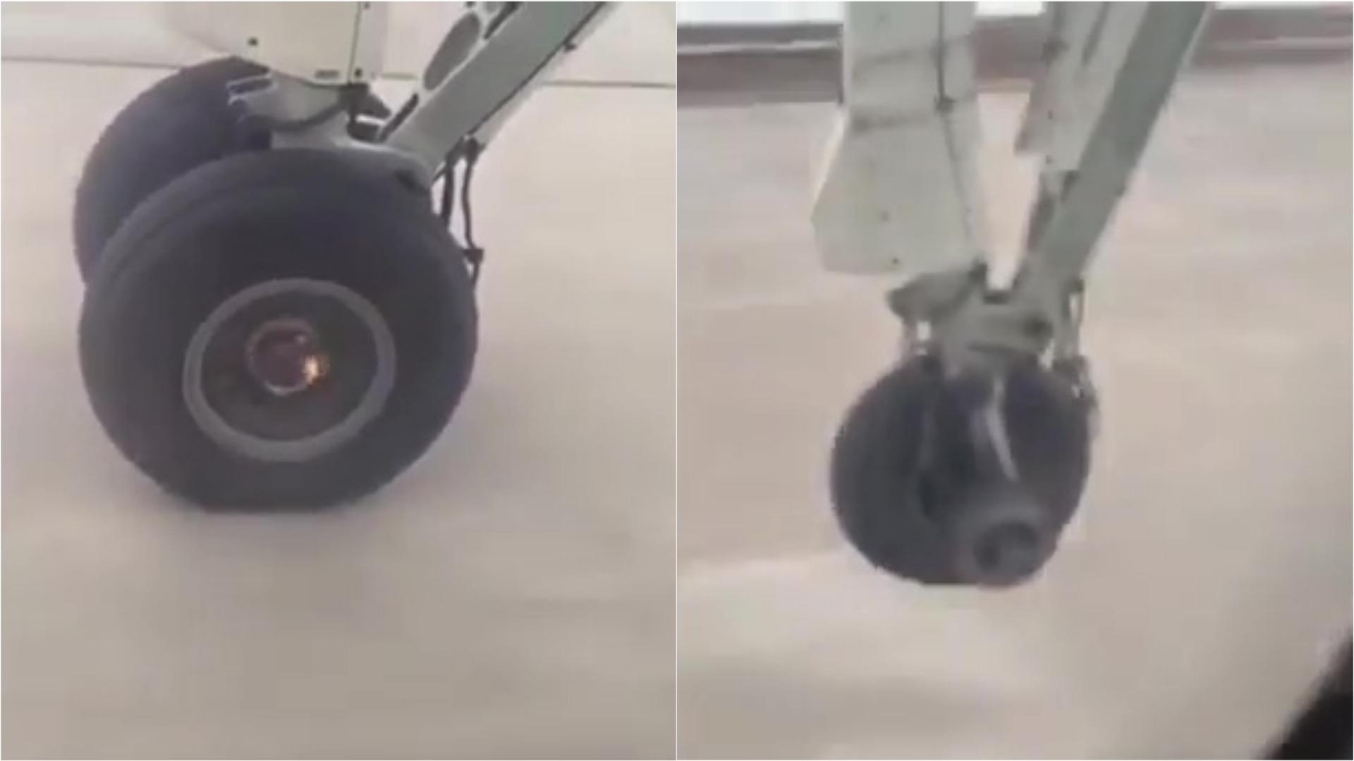 Pasajero grabó el despegue y aterrizaje del avión.