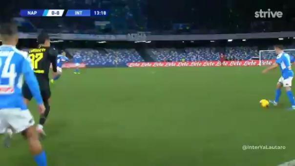 El gol de Romelu Lukaku con el Inter.