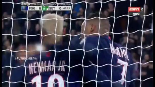 Así fue el gol de Kylian Mbappé.