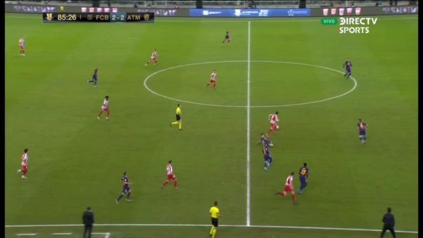 Atlético de Madrid 3-2 ante Barcelona.