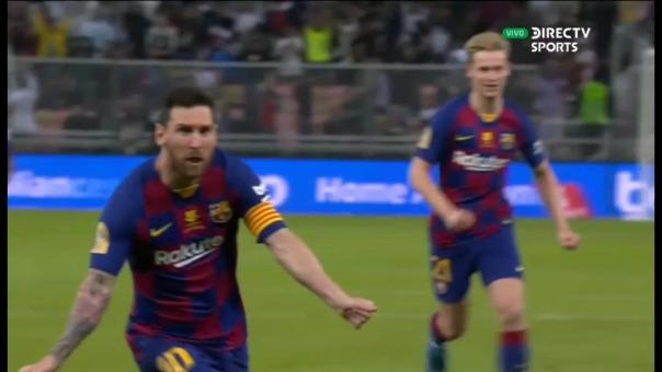 Lionel Messi anotó el segundo gol de Barcelona.