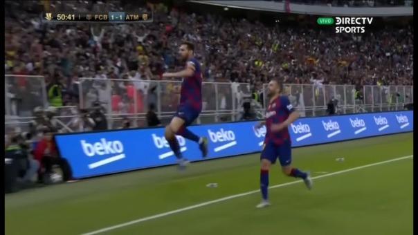 Así fue el golazo de Lionel Messi.