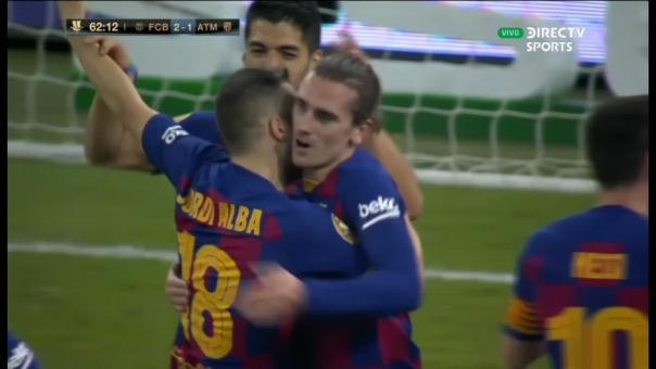 Así fue el gol de Antoine Griezmann.