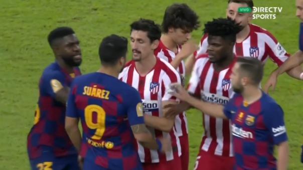 Así fue conato de gresca entre Joao Félix, Lionel Messi, Luis Suárez, Jordi Alba y Stefan Savic.