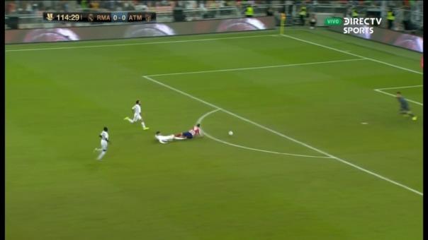 Así fue la barrida de Federico Valverde contra Álvaro Morata.