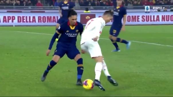 Así fue la gambeta de Cristiano Ronaldo contra Chris Smalling.