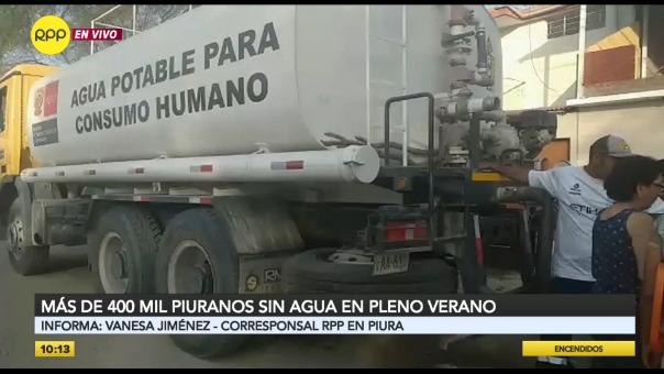 Más de 400 mil peruanos se encuentran sin agua
