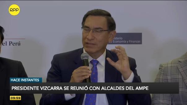 El presidente Vizcarra se reunió esta mañana con los directivos de la Asociación de Municipalidades del Perú.