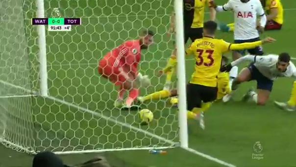 Esta fue la jugada en la que Tottenham casi termina marcando un gol.