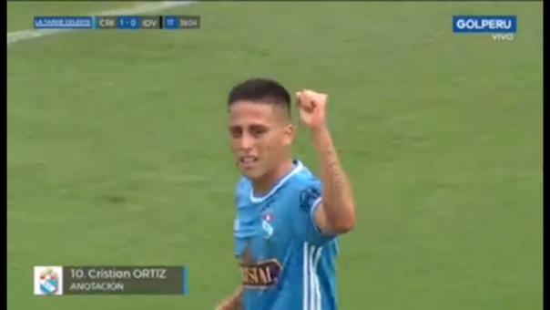 Así fue el gol de Cristian Ortiz.