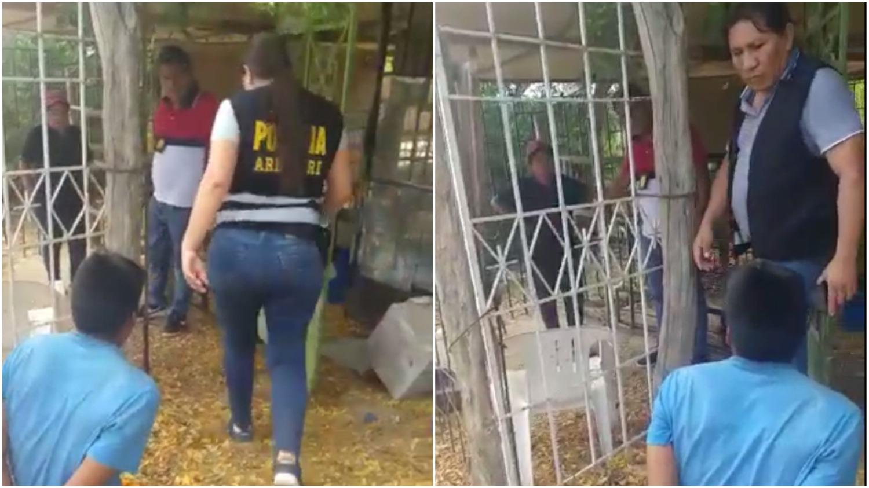Agentes policiales rescataron a una mujer que había sido secuestrada por su expareja.